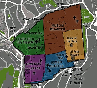 Map of Old Jerusalem
