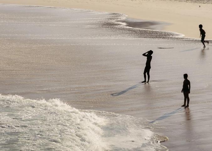 silhoutte in beach