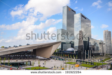 stock-photo-rotterdam-netherlands-may-downtown-rotterdam-netherland-s-second-largest-city-with-the-191922284