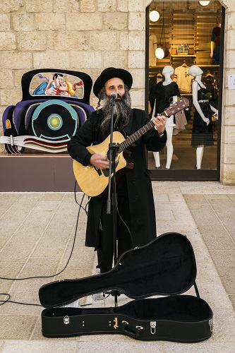jewish man playing guitar
