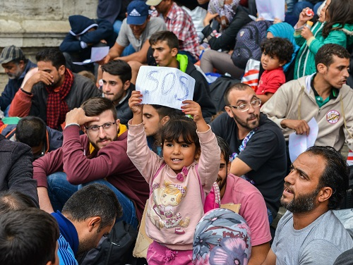Refugees in Budapest, Hungary