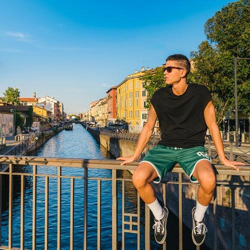 Young man in Navigli, Milan-3