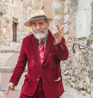 Eccentric man in Eze, Cote d'Azur, France-3