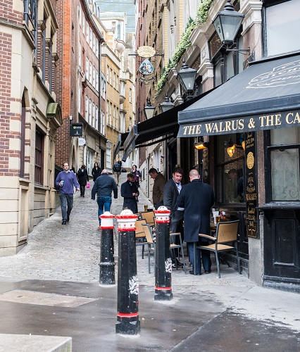 Pub in the CIty of London, England