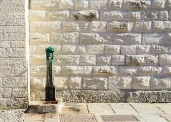 Traditional drinking fountain in Italy