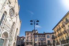 The Cattedrale di Santa Maria Assunta; Duomo di Como is located near Lake Como, Italy is one of the most important buildings in the region