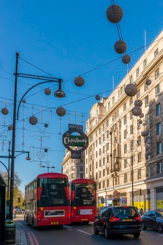 A whopping 750,000 LED bulbs caste a festive glow over the 1,778 baubles also lining the world-famous shopping stretch. This marks the start of the street's Christmas shopping season.