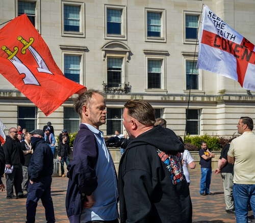Extreme Right-Wing English Defence League (EDF) supporters stage