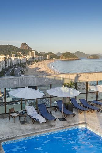 Rooftop bar in Copacabana, Rio de Janeiro, Brazil