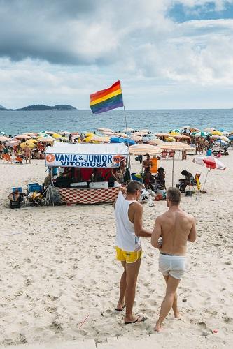 LGBT section of beach in Ipanema, Rio de Janeiro, Brazil