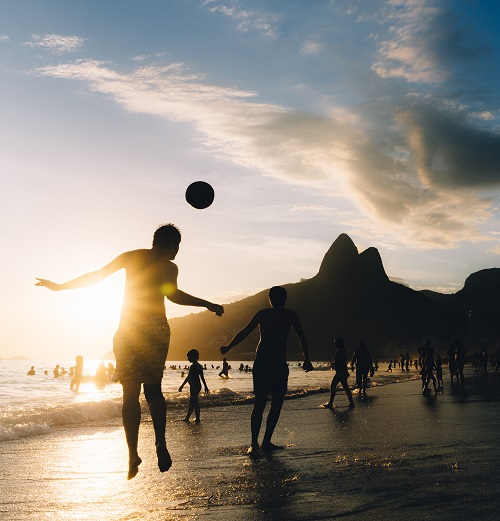 Keepy Upply on Ipanema Beach, Rio de Janeiro, Brazil