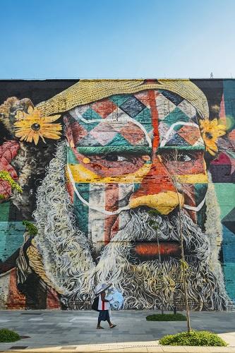 Mural by Eduardo Kobra in Rio de Janeiro, Brazil