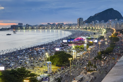 New Years' Party on Copacabana Beach, Rio de Janeiro, Brazil