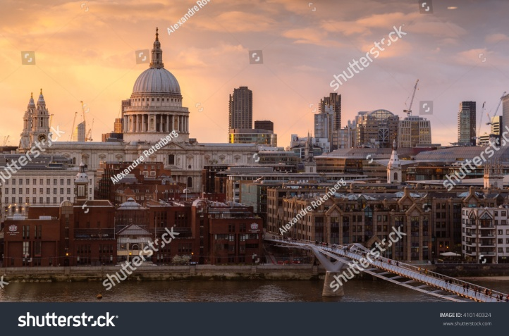 stock-photo-london-april-magnificence-of-saint-paul-cathedral-and-millennium-bridge-london-410140324