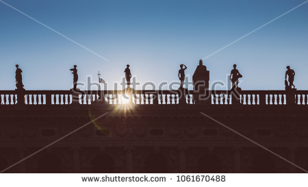 stock-photo-venice-italy-march-silhouette-facade-of-spires-at-the-national-library-biblioteca-1061670488