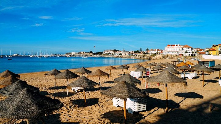 Conceicao Beach in Cascais, Lisbon region, Portugal - Costa Verde Portuguese Riviera
