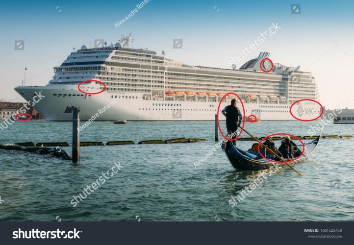 stock-photo-venice-italy-march-cruise-ship-and-venetian-gondola-old-vs-new-types-of-transportation-1061525438