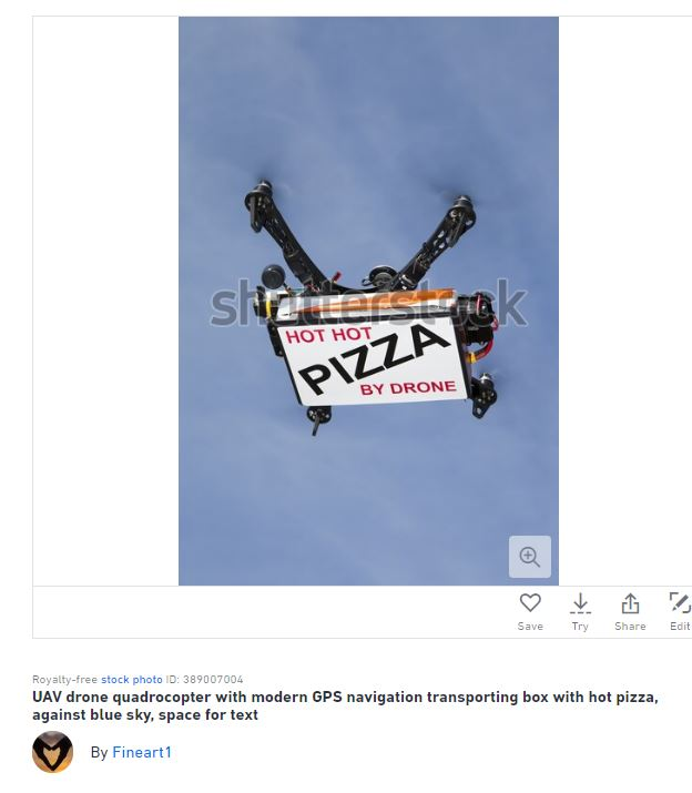 drone pizza