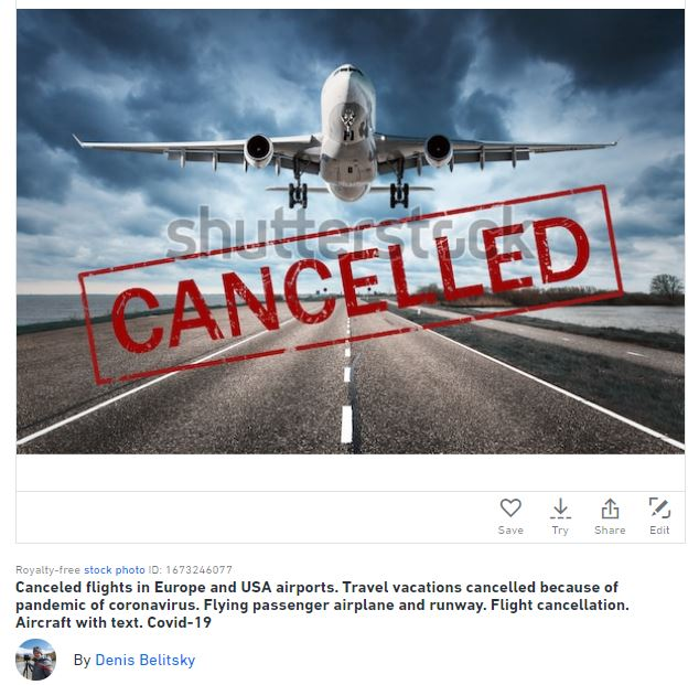 travel cancelled