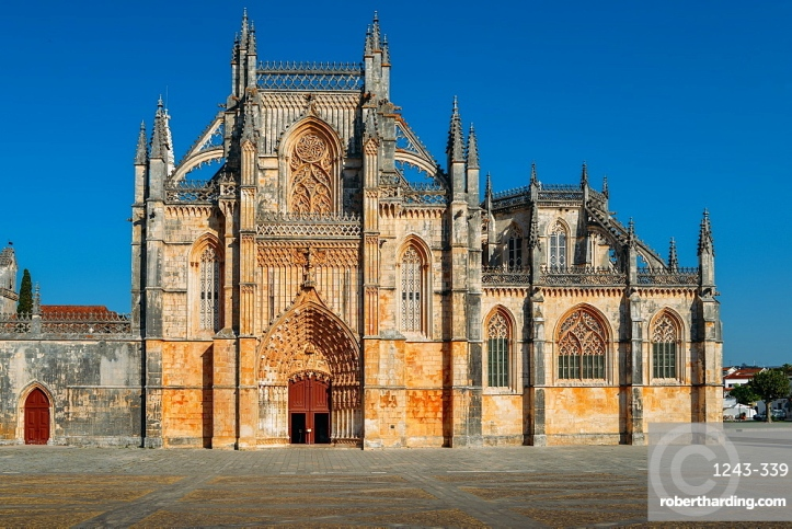 Mosteiro da Santa Maria da Vitoria (Monastery of St. Mary of the Victory), UNESCO World Heritage Site, Batalha, Leiria, Portugal