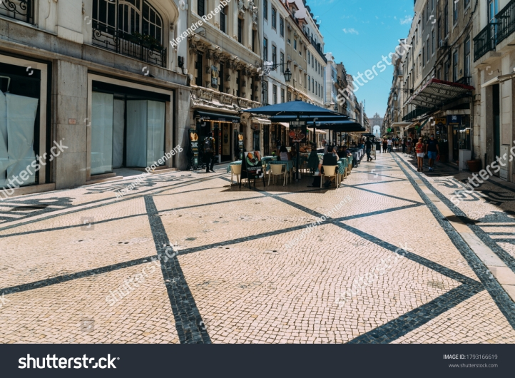 stock-photo-lisbon-portugal-august-almost-deserted-augusta-street-in-baixa-lisbon-portugal-during-1793166619